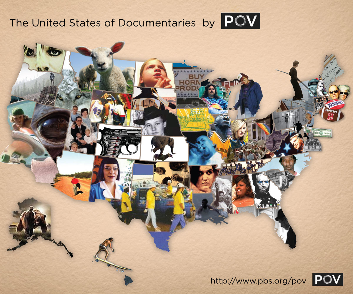 POV The United States Of Documentaries Large Map PBS - Large map of us states