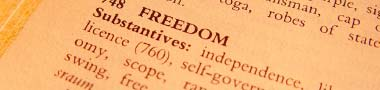 Dictionary definition: Freedom