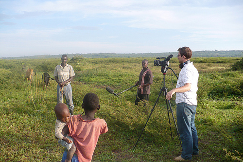 Good Fortune Filmmaker Landon with Camera in Yala Swamp jpg