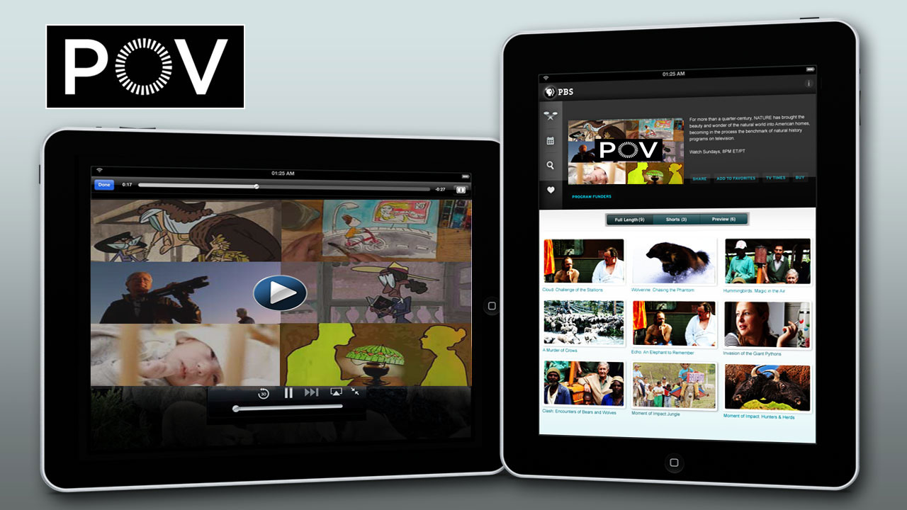 PBS iPad App with POV Short Cuts Image