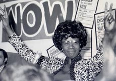 Shirley Chisholm campaigning for president in 1972, in the POV documentary <strong>Chisholm '72: Unbought and Unbossed</strong><br>Credit: Courtesy of Arlie Scott</br>