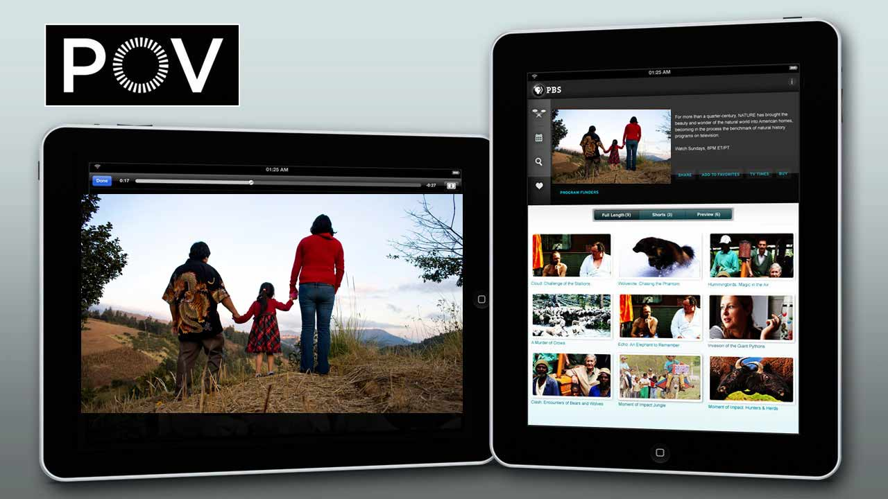 PBS iPad image with Sin Pais