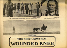 Disturbing the Universe: Wounded Knee newspaper clipping jpg